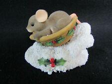 Fitz & Floyd Charming Tails Figurine* Sledding Nut) Mouse 87/124
