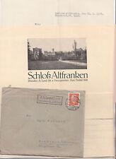 Brief Prospekt Dokument Schloss Altfranken Dresden 1932 von Redern Adel selten !