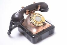 RARE* ORIGINAL ART DECO DESIGN COPPER DIPPED BAKELITE ROTARY TELEPHONE