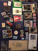 Junk Drawer Lot - Cards, stamps, maple leaf