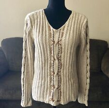 Westbound Cable Knit Sweater Long Sleeve Sz M