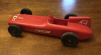 """VINTAGE PROCESSED PLASTIC MOBILE 1 THE CHAMP INDY TOY RACE CAR  9"""""""