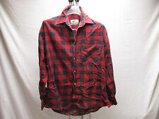 J.D Michael Authentic Mens Shirt M Medium Checkered Button-Front 100% Cotton