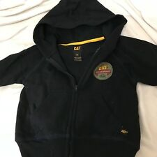 NWT Cat Workwear Toddler Boy Hoodie Black  yellow  Size 3T
