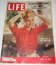 APRIL 22, 1957 CAROL LINLEY; ICEBERGS; CHURCHILL; 1812