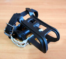 "9/16"" UNION COMBO TOE CLIP BICYCLE PEDALS MOUNTAIN, TRACK & FIXED BIKES *SILVER"