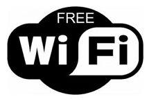 Free WiFi Sticker Sign for Window Cafe Bar Pub Internet Cafe Pub Shop Hair Salon