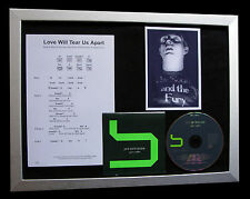 JOY DIVISION Love Will Tear Us Apart QUALITY CD FRAMED DISPLAY+FAST GLOBAL SHIP