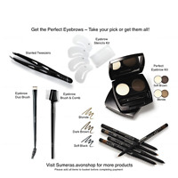 Avon Perfect Eyebrow Kit~Brow Stencil Kit~GlimmerStick~Brush Comb~Various items