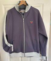 Callaway X Series Golf Soft Shell Jacket Size Medium Grey Cream Zip Up Jacket