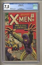 X-Men 14 (CGC 7.5) O/W Pages; 1st app Sentinels! 1965 Marvel Comics (j# 114)