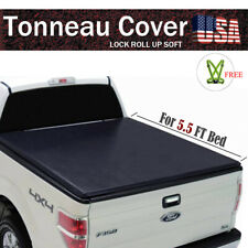 """Fit 2004-2020 FORD F-150 5.5' FT 66"""" Bed Lock Soft Roll UP Black Tonneau Cover"""