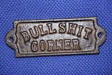 (1) Bullshit Corner Sign Plaque Decor, Rustic Man Cave Bullshit Wall Decor, W-65