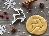 Reindeer Cookie Cutter 01   Fondant Cake Decorating   UK Seller
