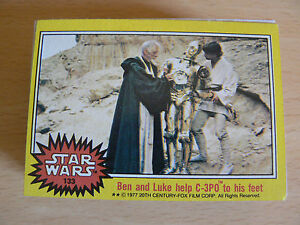 STAR WARS TRADING CARDS 1977 YELLOW SET + WAX WRAPPER