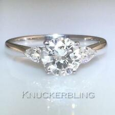 Natural SI2 Round Yellow Gold Fine Diamond Rings