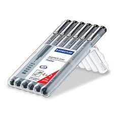 STAEDTLER Pigment Liner 308  Marker Pen Fineliner 6 nibs box set
