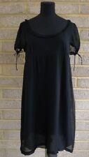 Mui Mui black Baby Doll Dress in silk chiffon size