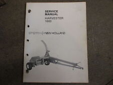 New Holland 1600 forage chopper service manual