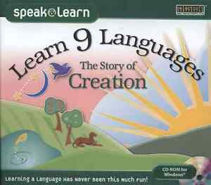 Speak and Learn: Learn 9 Languages with the Story of Creation CD-ROM for Windows