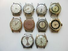 Lot of 10 vintage mechanical watches - for use of parts