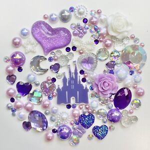 Disney Princess Castle Theme Flatback Gems Cabochons & Pearls In Lilac & AB #2