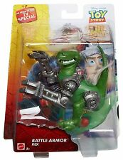 DISNEY PIXAR TOY STORY THAT TIME FORGOT BATTLE ARMOR REX FIGURE RETIRED RARE