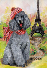 """12.5x18"""" Garden Mini Flag Yard Flags Banner Welcome Poodles in Hats and Scarves"""