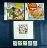 Nintendo DS DSI DS XL Game Lot Of 8 Animal Themed Paws And Claws Pet Vet, Catz +