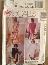 McCalls 5233 Misses One or Two Piece Dresses sz 10,12,14