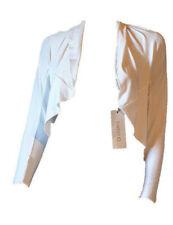 Coprispalle Bolero Maglia Cardigan Corto Elegante Bianco Estivo Leggero SWEET E
