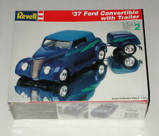 Revell '37 Ford Convertible with Trailer Sealed 1994