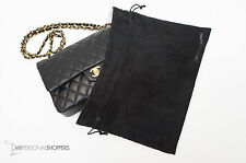 "LUXE REVERSIBLE BLACK/WHITE DUST COVER BAG FITS YOUR CHANEL 14"" x 8.5"" (SM/MD)"