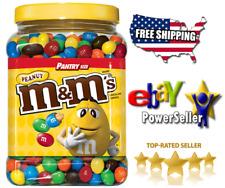 M&M'S Peanut Chocolate Candy Pantry Size Plastic Jar (62 oz.)