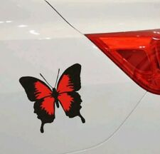 red Color Classic Butterfly Vinyl Sticker Decal