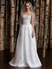 NEW Naeem Khan Lisbon Ivory Sleeveless Silk Gazar Sheer Illusion Wedding Dress