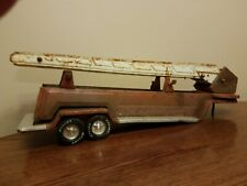 Vintage NYLINT FIRE LADDER SEMI TRUCK TRAILER DOUBLE AXLE TRAILER ONLY LARGE!