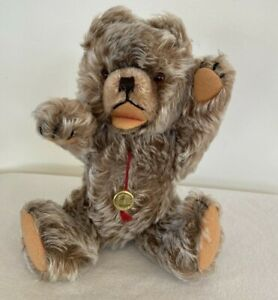 "Vtg. Hermann Original Teddy Bear, Mohair, Jointed, With Tag,10""  Made in Germany"
