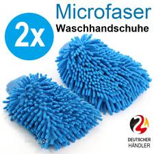 2x Waschhandschuh Microfaser Autowäsche KFZ Handschuh Autopflege Auto Reinigung✔