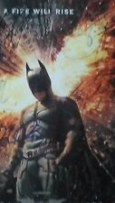 """THE DARK NIGHT RISES"" autographed Christian Bale,Anne Hathaway,Tom Hardy + 5"