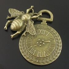 6pcs Antiqued Style Bronze Tone Alloy Cute Bee Charm Pendant Finding 07701