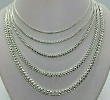925 Sterling Silver SOLID Miami Cuban Link Chains MEN'S WOMEN'S 2mm-5mm 16