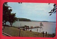 HAMILTON LAKE INDIANA COLD SPRINGS BEACH STEUBEN COUNTY RESORT   POSTCARD