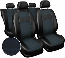 Seat covers fit Ford Focus Mk1 Mk2 Mk3 Mk4 polyester leatherette black / blue