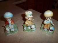 Vintage Homco - Home Interiors Children Kids Figurines #1430  - Lot of 3