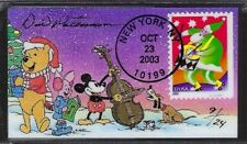 Winnie the Pooh & Friends Caroling on Santa Drumming Sc.# 3822 First Day Magnet