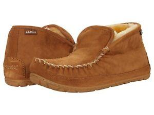 Man's Slippers L.L.Bean Wicked Good Slipper Boot Moc