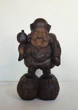 "Vintage Japanese Carved Wood Daikoku Statue, 15 5/8"" Tall"