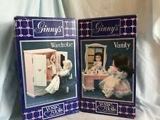 Vintage Ginny's Wardrobe and Vanity set Mib Vogue Doll Meritus Company 1984