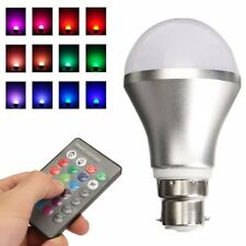 Dimmable RGB Color Changing 4W B22 LED Controller Remote IR with Bayonet Bulb